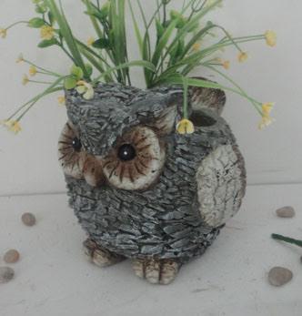 Slate Owl Planter