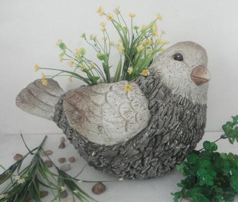 Slate Bird Planter