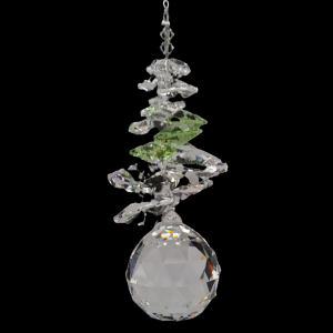 30mm Crystal Sphere with Peridot cluster above