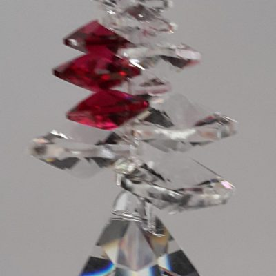 40mm Crystal Bell with Bordeaux cluster above