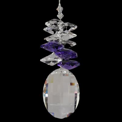Crystal Matrix with Blue Violet cluster