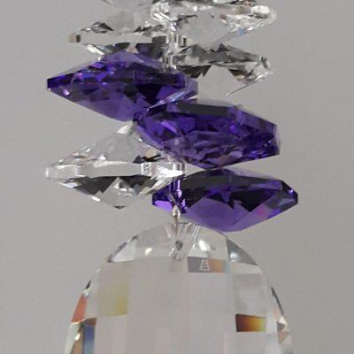 32mm Crystal Matrix with Blue Violet cluster above