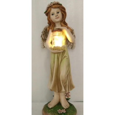 Fairy with Jar Solar Light