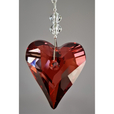 Crystal Heart 27mm – Red Magma