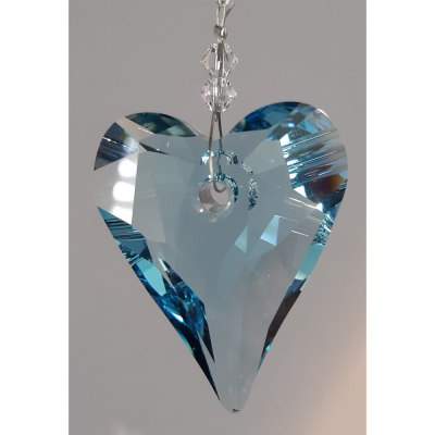 Heart 37mm – Aquamarine