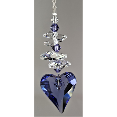 27mm Tanzanite Heart with cluster above