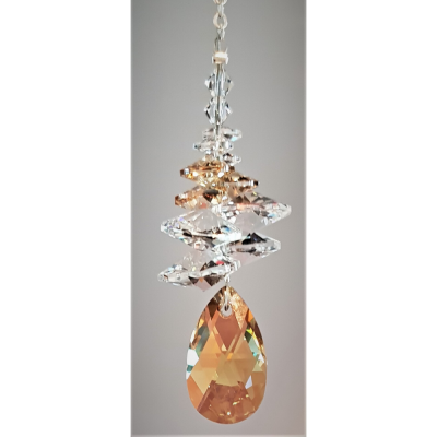 22mm Topaz Dewdrop with cluster above