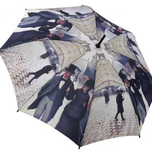Caillebotte – Paris Street on a Rainy Day – Folding