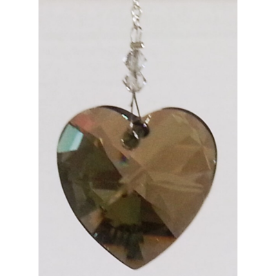 Crystal Heart 28mm – Iridescent Green