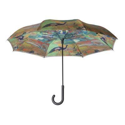 Peacocks Reverse Cover Umbrella