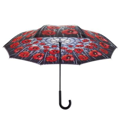 eSHOP NZ - Stained Glass Poppies Reverse Cover Umbrella