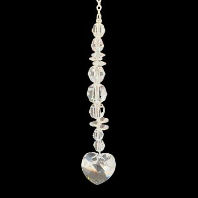 Crystal Suncatcher with Crystal Heart